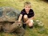 Ethan with Galapagos tortoise
